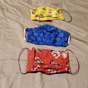 3 cloth homemade masks, used a few times, washed
